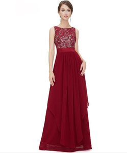 Fashionable Prom Dress Vestido Evening Dresses Chiffon Lace Decoratio Many Color Available Formal Party Dress