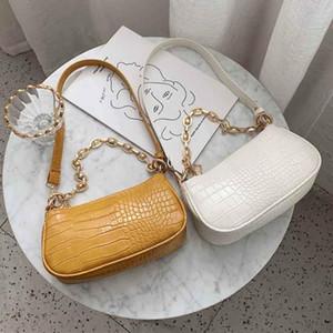 Pietra modello borse a spalla in pelle PU per le donne 2020 solido signora Colour borse e portamonete femminili piccola frizione viaggio borsa