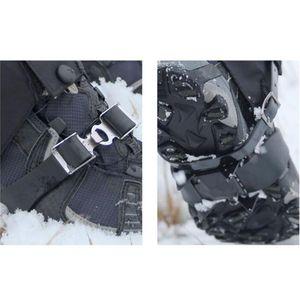 Mounchain Outdoor Anti - deslizamento de 4 dentes esqui Pattern Ribbon sapato cobre Unisex manganês Aço Crampon para patinar neve