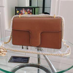 Classique Mode Rétro boîte Sacs coeur d'amour épais chaîne épaule véritable sac Messenger Lady bandoulière en cuir sac à main