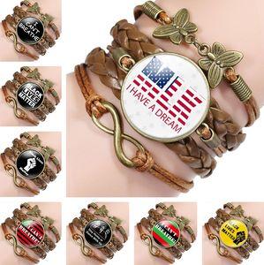 Newest American fashion accessories I can't breathe bracelet Black life matters chain bracelets chain bracelet 6099