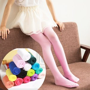 Emmababy 2019 Girls Kids Tights Opaque Pantyhose Hosiery Ballet Dance Stockings Candy Colors 1Pair Age 1-12Y