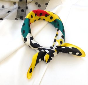 2020 Silk scarf size 50cm*50cm F letter style retro female headband lady shawl 3 colors top quality