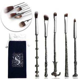 5PCS Set Harry potter Makeup Brush Sets Magic Wand Eye Shadow Brush Beauty Comestic Potter Brush Tools Make Up Kits by win007