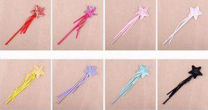 Halloween Kindertag Pailletten Zauberstab Pentagramm Party Maskerade Handschellen Angel Stick Zauberstab Star Fairy Stick