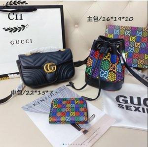 Nuovo 2020 messenger Bag Fashion Classic tre pezzi delle signore di Lusso Borsa Secchiello messenger Bag mobile phonebag portatile messengerbag zaino