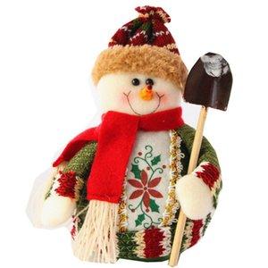 Décorations de Noël Poupées d'arbre Décorations de Noël Innovative Elk Snowman Santa Le It Snow Avec Pelle