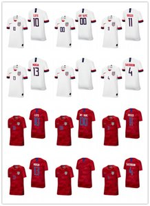 Youth Kids Blank 4 becky sauerbrunn 10 carli lloyd 13 alex morgan 11 ali krieger white red 2019 champion world cup custom jersey