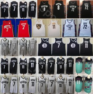 Men Basketball Kevin Durant Jerseys Kyrie Irving Biggie Spencer Dinwiddie Edition Earned City Stitched Black White Red Green Gry High