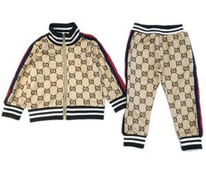 2020 Kids Designer Clothing Sets New Luxury Print Tracksuits Fashion Letter Jackets + Joggers Casual Sports Style Sweatshirt Boys Girls