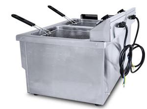 Doble tanque NUEVA máquina de pollo frito de acero inoxidable freidora a presión de aire máquina de freír las patatas fritas