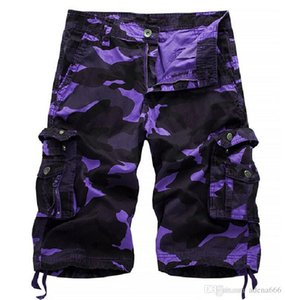 The designer Camouflage Camo Cargo Shorts Men 2018 New Mens Casual Shorts Male Loose Work Shorts Man Military Short Pants overalls