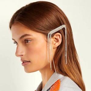 Glänzender Diamant-Frauen lange Quaste Haarpin Kristall Hochzeit Braut Hairpin Designer Luxus-Haarspangen Schmuck Zubehör Großhandel zu verkaufen