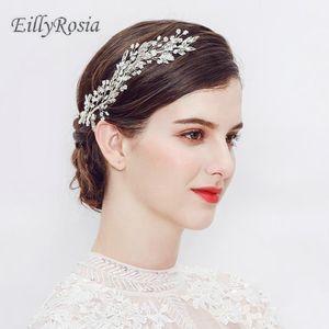 Leaf Headband Beading Crystals Bridal Hairbands 크라운 헤드 피스 여성용 머리 장식 웨딩 헤어 액세서리 Bride Tiara Jewelry