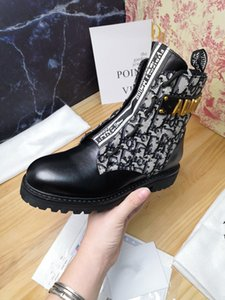 2020 new high-end boots, high-end luxury display, fashion fad artifact with high 5.5CM Black Size 35-41 mf1007