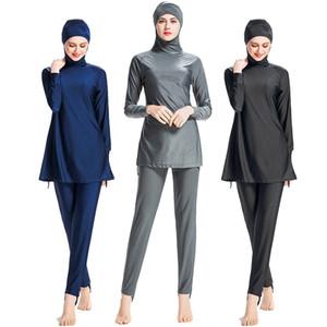 L098 Costume Da Bagno Musulmano Plus Size Costumi Da Bagno Islamici Donne Costume Da Bagno Per Le Donne Manica Lunga Burkini Muslima Covered Hijab Abbigliamento 6XL