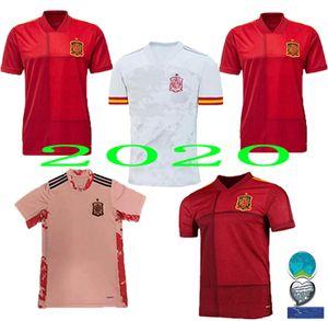 2020 home Espagne Jersey loin de football maillot 2021 Paco Alcácer ASENSIO MORATA CITP INIESTA Kit hommes SAUL shirt Sports Football