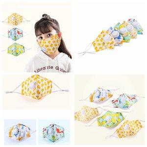 Cartoon bambini panno di cotone stampato maschera antipolvere lavabile maschera per i bambini con valvola di respiro può mettere in filtri PM2.5 mascherare FFA4193