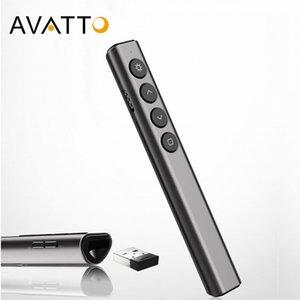 Mini Kablosuz Sunum lazer Pointer, PowerPoint Presenter, PPT Clicker Öğretim Toplantısı için Uzaktan Kumanda Kalem i07 AVATTO