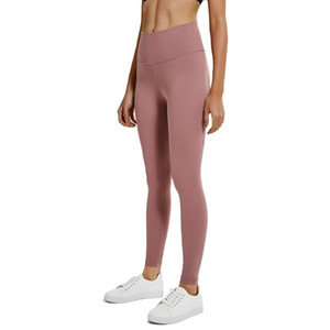 Señoras patrón básico cintura alta longitud completa elástico Ultra suave 80% Nylon 20% Spandex compresión Fitness deporte Leggings 2019 MX200329