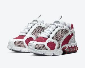 2020 Stussy Zoom Spiridon Caged 2 Cardinal Red Fashion Brand Designer Men Women Running Shoes With Box Free Shipping Size 4-11