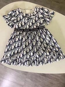 2020 kısa kollu fırfır yaz kızlar parti elbise prenses kız giyim