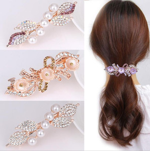 New Fashion Beautiful Hair Clip Hairpin Austrian Crystal Hair Claw Hair Clips for women