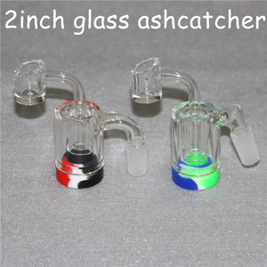 Glass Reclaim Catcher ash catcaher handmake with 4mm Quartz Banger nail and 5ml silicone wax containers for dab rig glass bong
