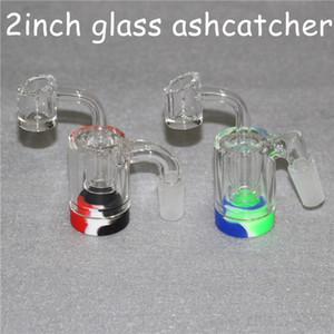 A recuperação de vidro apanhador handmake cinzas catcaher com quatro milímetros de quartzo Banger unhas e cera de silicone 5 ml recipientes para DAB Bong vidro sonda