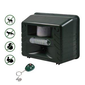 쥐 사슴, 고양이, 개,, 모 원격 제어와 초음파 야외 동물 드라이브 스트로브 Led 빛 펠러 드라이브 설치류 장치