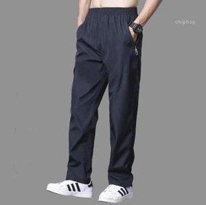 Straight Pants Pantalon Hombre Breathable Mens Thin Pants Causal Solid Relaxed Track Sweatpants Joggers Elastic Waist