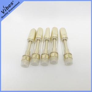 Altın TH205 Vape Kartuş ile Metal Ağızlık Driptip - 510 Konu 1 ml ve 0.5 ml Seramik Bobin Kalın Yağ Atomizer Kalem