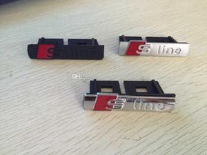 Car-styling S Linha Sline Grade dianteira do emblema do emblema cromado plástico ABS -Front grelha para montar Audi A1 A3 A4 A4L A5 A6L S3 S6 Etiqueta Q7 Q5