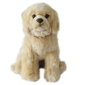 simulation de la qualité des animaux Labrador retriever en peluche mini poupée chien chiot en peluche pour les enfants cadeau décoration 32cm DY50753