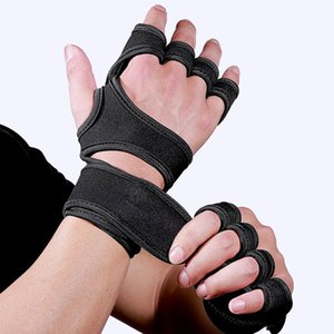 1 Pair Men Women Gym Workout Fitness Gloves Prevent Calluses Protective Weight Lifting Half Finger Non Slip Sports Wrist Wrap