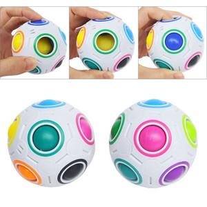 Criativo Rainbow Ball Cubo Mágico Velocidade Futebol Esférica Puzzles Crianças Brinquedos de Aprendizagem Educacional Jogos Para Crianças Presentes DHL Livre