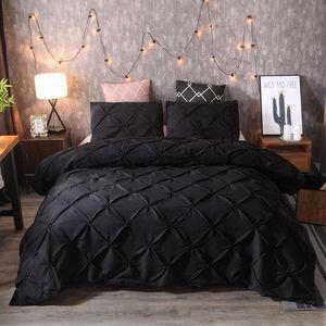 Bettwäsche-Sets Bettbezug Bettbezug Kopfkissenbezug Bettwäsche-Set Luxus Schwarz Neu