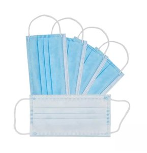 Handkerchief Free shipping DHL KN95Disposable Face Masks with Elastic Ear Loop 3 Ply Breathable for Blocking Dust N95Mask