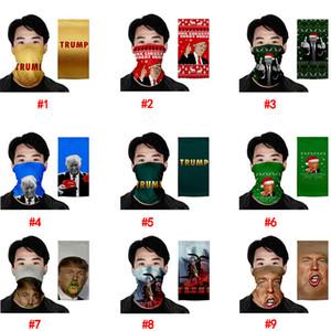 Sunscreen güneş Toz geçirmez 40 Stiller Trump Yüz Maskeleri Eşarp Amerikan Seçim Malzemeleri Koruyucu Ücretsiz Nakliye DHL Maske yazdır