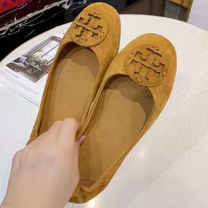loafer sapatos caros apartamentos é novo mulheres bailarinas balé sapatos em camurça pele de cordeiro de alta qualidade! Po11174
