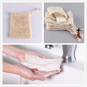 Blase handgemachte Seife Mesh-Double-Layer-Net Seife Tasche Schaumseifen Einfach Blase Netztasche Badezimmer Tasche Reinigungs-Tools