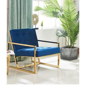 Semplicità moderne e confortevoli Home Stay Struttura velluto divano Luxe Living panno Artista Schienale Sedile pranzo Balcone Chair