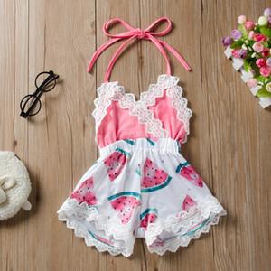 2020 Sommer-nette Baby-Wassermelone gedruckte Kleidung für Mädchen 6M - 2 Jahre alten Kinder Modekleidung
