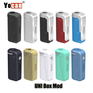 100% Original Yocan UNI Box Mod 650mAh Preheat VV Variable Voltage Battery With Magnetic 510 Adapter For Thick Oil Cartridge Genuine