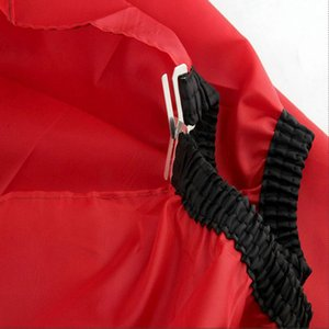 Us 384 18 Offsalon Barber Hair Cutting Gown Cape Hairdresser Apron With Viewing Window New Hot Nylon Red Small Size Hair Styling YTwMU