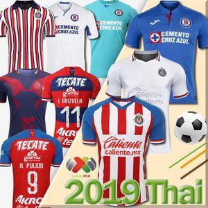 Mexique Club Chivas de Guadalajara maison 3 loin monde club blanc Cruz Azul Soccer Jersey A.PULIDO LOPEZ Football Shirts uniforme