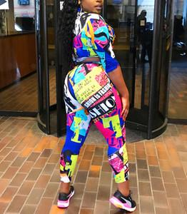 Женский сексуальный костюм буквы геометрический принт спортивная одежда обтягивающие грудь штаны с длинными рукавами квадратный воротник рубашки партии йога одежда