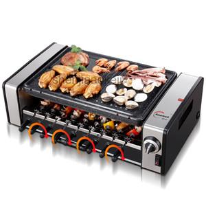 barbacoas hogar sin humo coreano parrillas eléctricas barbacoa eléctrica máquina automática antiadherentes comerciales planchas 220v