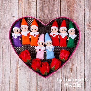 Livraison gratuite 10 PCS Noël Elf bébé Nuisettes Elfes Jouets Mini Elf Décoration de Noël Poupée Jouets enfants Cadeaux Little Dolls