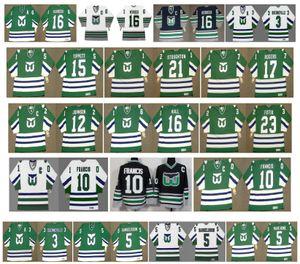 Camisetas de los Hartlers Whalers de la vendimia 16 BOBBY HULL 10 Ron Francis 23 NICK FOTIU 16 Patrick Verbeek 3 Joel Quenneville Ulf Samuelsson CCM Hockey